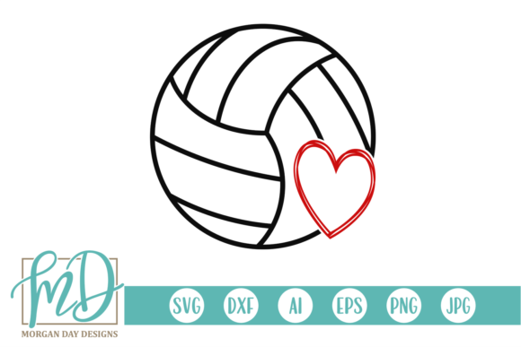 Print on Demand: Volleyball Graphic Crafts By Morgan Day Designs