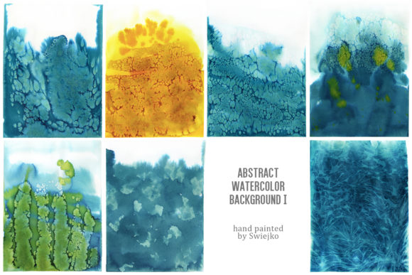 Print on Demand: Waterclor Background, Abstract Texture Gráfico Ilustraciones Por swiejko