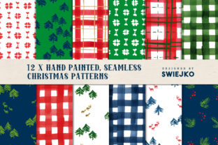 Watercolor Christmas Backgrounds Graphic By swiejko