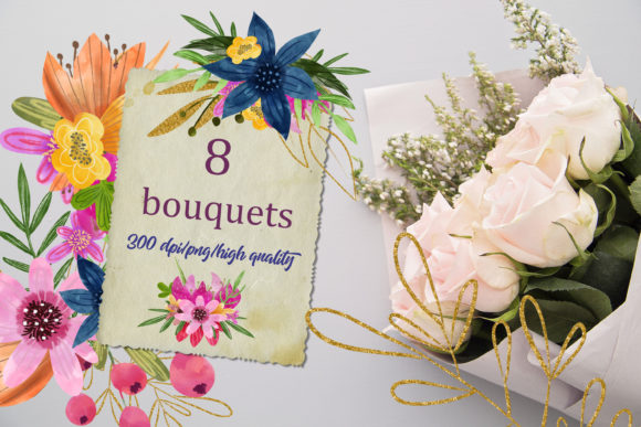 Watercolor Clipart Flowers Graphic Illustrations By SVG Story - Image 2