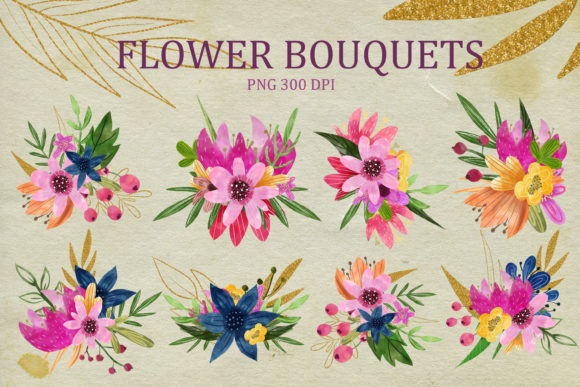 Watercolor Clipart Flowers Graphic Illustrations By SVG Story - Image 3