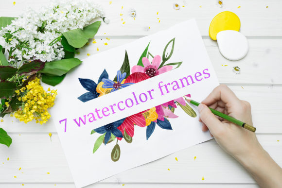 Watercolor Clipart Flowers Graphic Illustrations By SVG Story - Image 4
