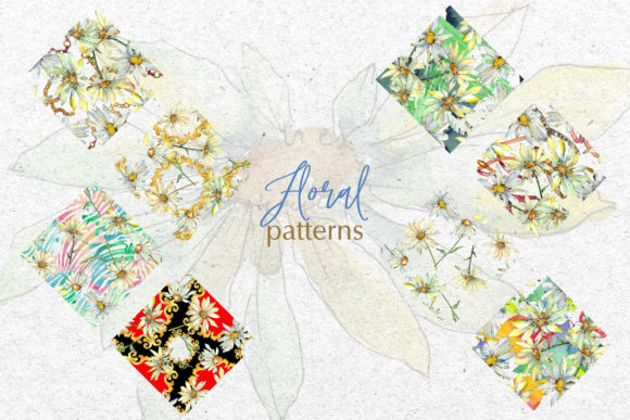 Print on Demand: Watercolor Daisy PNG Set Graphic Illustrations By MyStocks - Image 3