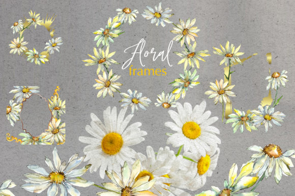 Print on Demand: Watercolor Daisy PNG Set Graphic Illustrations By MyStocks - Image 4