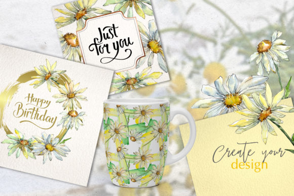 Print on Demand: Watercolor Daisy PNG Set Graphic Illustrations By MyStocks - Image 5
