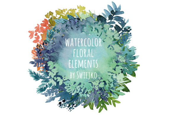 Watercolor Floral Frame Background Graphic Illustrations By swiejko