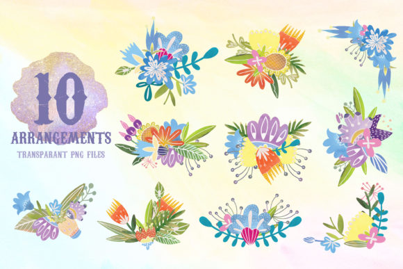 Watercolor Folk Flowers Summer Set Graphic Illustrations By SVG Story - Image 2