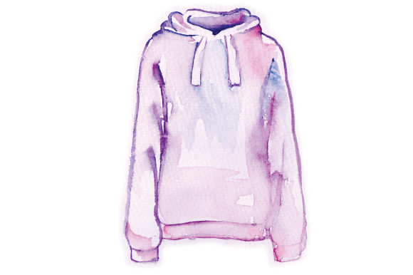 Watercolor Hoody Beauty & Fashion Craft Cut File By Creative Fabrica Crafts