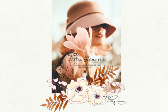 Watercolor Toffee Flowers Graphic By webvilla Image 5