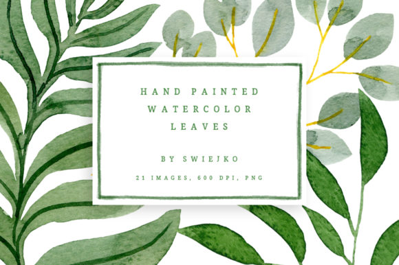 Download Free Watercolor Tropical Leaves Graphic By Swiejko Creative Fabrica for Cricut Explore, Silhouette and other cutting machines.