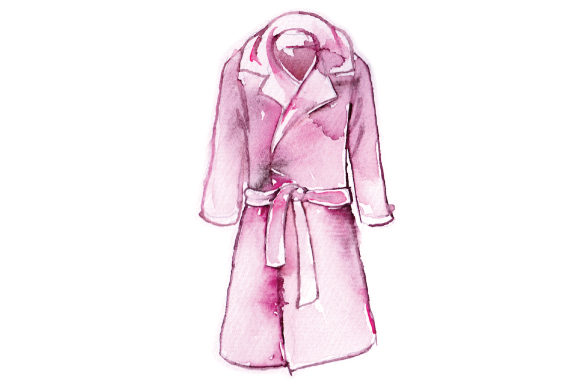 Watercolor Long Womans Coat Beauty & Fashion Craft Cut File By Creative Fabrica Crafts
