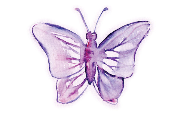 Download Free Watercolor Mauve Butterfly Svg Cut File By Creative Fabrica for Cricut Explore, Silhouette and other cutting machines.