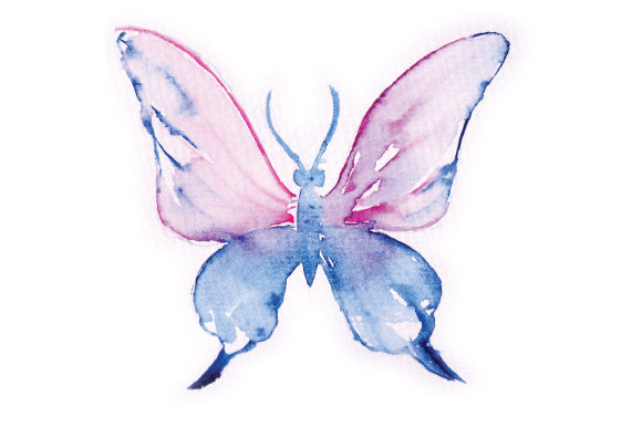 Watercolor Pink and Blue Butterfly Animals Craft Cut File By Creative Fabrica Crafts