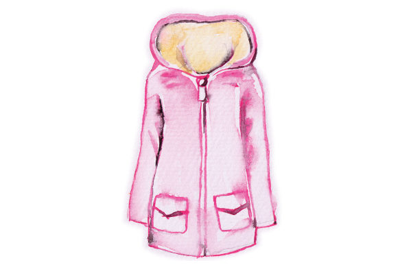 Watercolor Pink Coat Beauty & Fashion Craft Cut File By Creative Fabrica Crafts