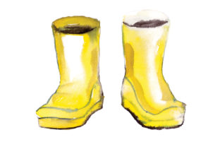 Watercolour Yellow Wellie Boots Craft Design By Creative Fabrica Crafts