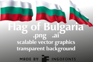 Waving Flag of Bulgaria Graphic By ingoFonts