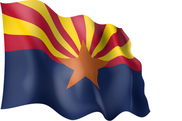 Download Free Waving Flag Of Arizona Graphic By Ingofonts Creative Fabrica for Cricut Explore, Silhouette and other cutting machines.