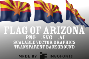 Waving Flag of Arizona Graphic By ingoFonts