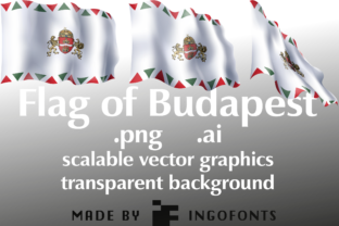 Waving Flag of Budapest Graphic By ingoFonts
