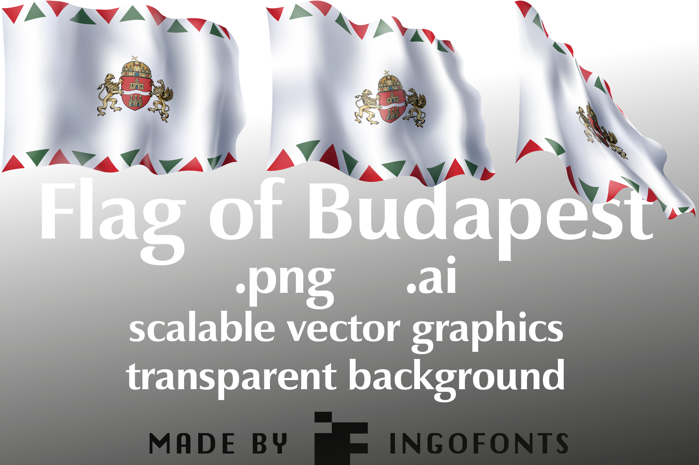 Download Free Waving Flag Of Budapest Graphic By Ingofonts Creative Fabrica SVG Cut Files