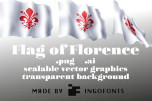 Waving Flag of Florence Graphic By ingoFonts
