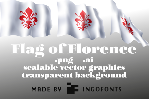 Download Free Waving Flag Of Florence Graphic By Ingofonts Creative Fabrica for Cricut Explore, Silhouette and other cutting machines.