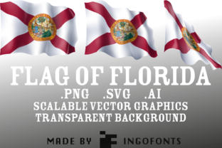 Waving Flag of Florida Graphic By ingoFonts