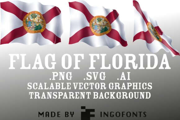 Download Free Waving Flag Of Florida Graphic By Ingofonts Creative Fabrica for Cricut Explore, Silhouette and other cutting machines.