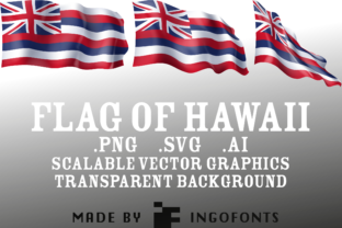 Waving Flag of Hawaii Graphic By ingoFonts