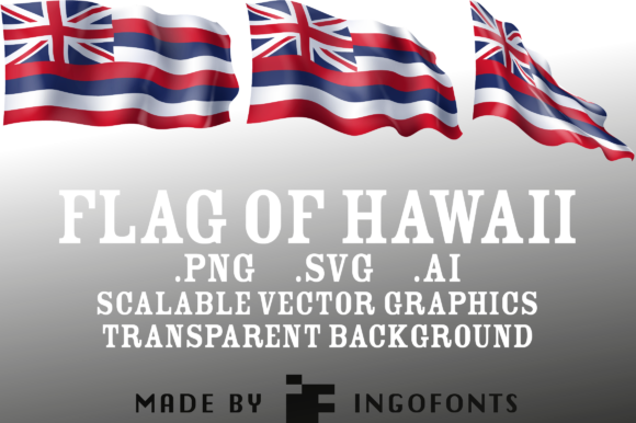 Download Free Waving Flag Of Hawaii Graphic By Ingofonts Creative Fabrica for Cricut Explore, Silhouette and other cutting machines.