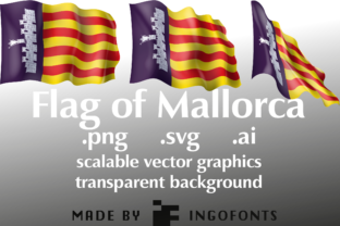 Waving Flag of Mallorca Graphic By ingoFonts