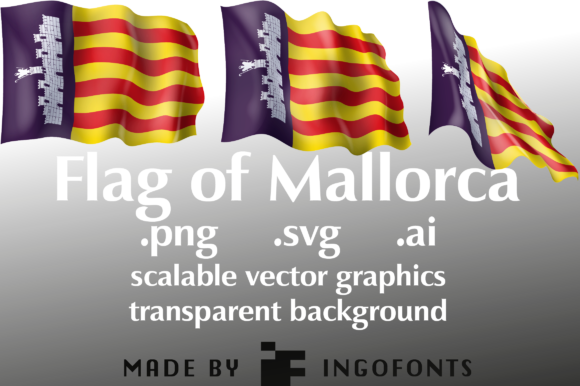 Download Free Waving Flag Of Mallorca Graphic By Ingofonts Creative Fabrica for Cricut Explore, Silhouette and other cutting machines.