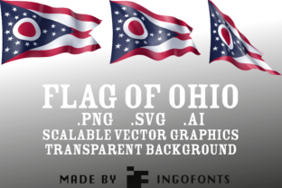 Waving Flag of Ohio Graphic By ingoFonts