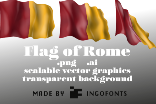 Waving Flag of Rome Graphic By ingoFonts