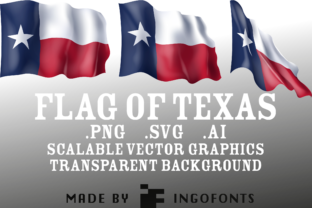 Waving Flag of Texas Graphic By ingoFonts