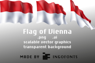 Waving Flag of Vienna Graphic By ingoFonts
