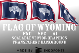 Waving Flag of Wyoming Graphic By ingoFonts