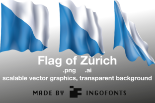 Waving Flag of Zürich Graphic By ingoFonts