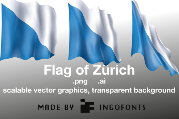 Download Free Waving Flag Of Zurich Graphic By Ingofonts Creative Fabrica for Cricut Explore, Silhouette and other cutting machines.