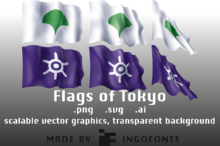 Waving Flags of Tokyo Graphic By ingoFonts