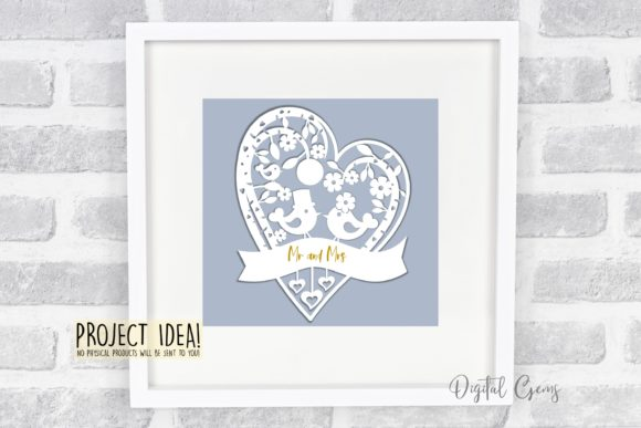 Wedding Bird Paper Cut Design Graphic By Digital Gems Image 2