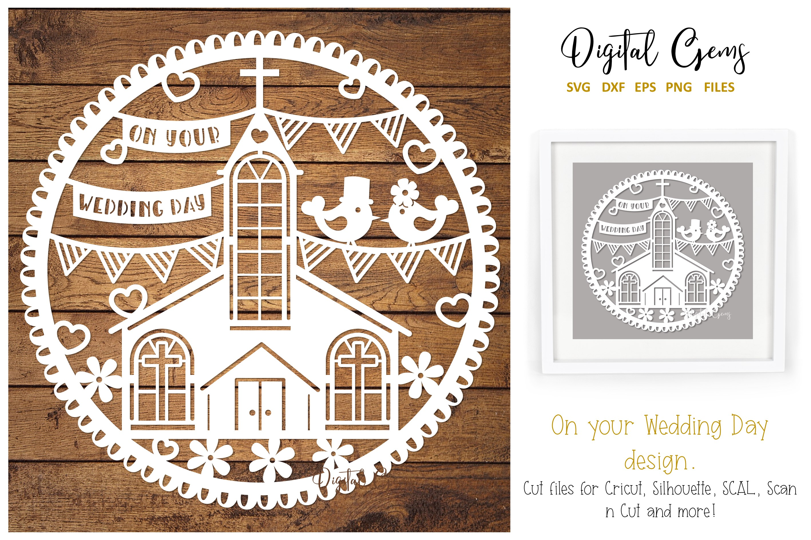 Download Free Wedding Design Graphic By Digital Gems Creative Fabrica for Cricut Explore, Silhouette and other cutting machines.