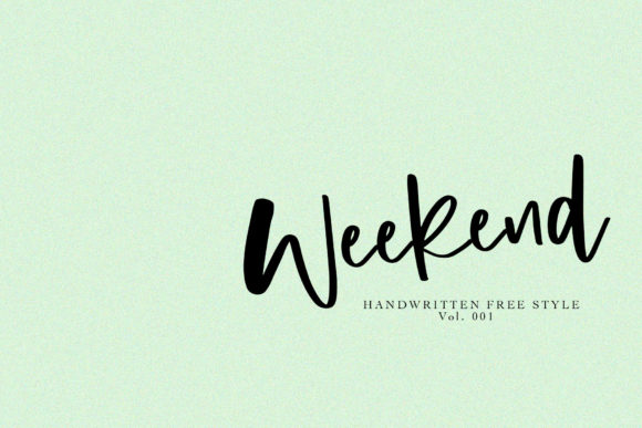 Print on Demand: Weekend Script & Handwritten Font By Studio_Art
