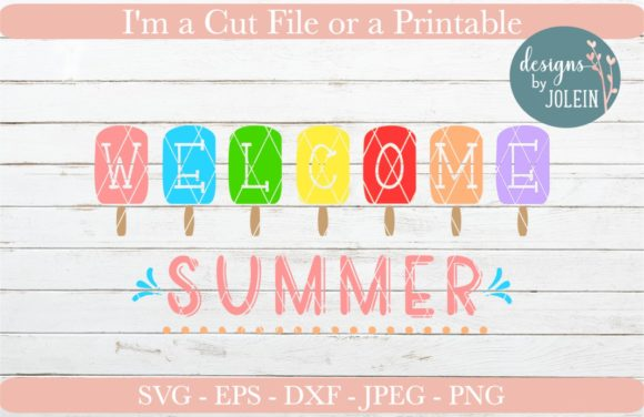 Download Free Welcome Summer Graphic By Designs By Jolein Creative Fabrica for Cricut Explore, Silhouette and other cutting machines.