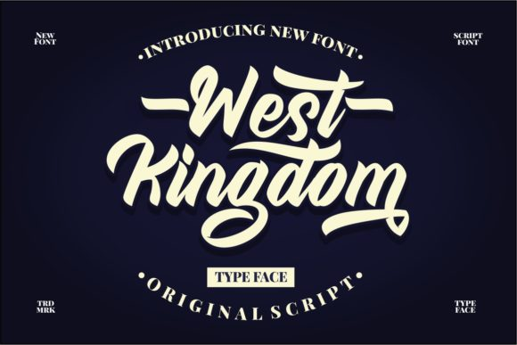 Print on Demand: West Kingdom Display Font By putracetol