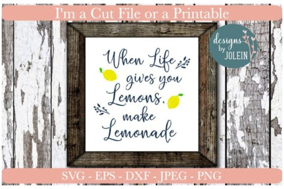 Download Free When Life Gives You Lemons Make Lemonade Graphic By Designs By for Cricut Explore, Silhouette and other cutting machines.
