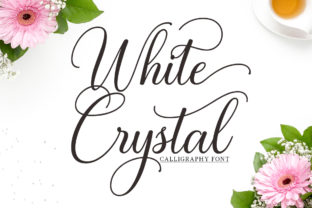 Print on Demand: White Crystal Script Script & Handwritten Font By Mytha Studio