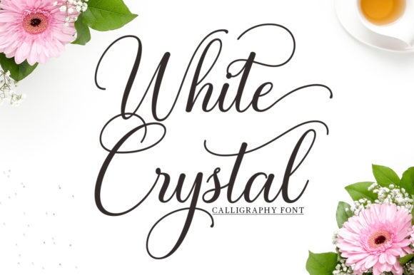 Print on Demand: White Crystal Script Script & Handwritten Font By mythastudio