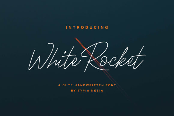 Print on Demand: White Rocket Script & Handwritten Font By Typia Nesia