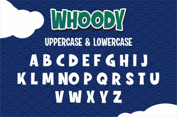 Print on Demand: Whoody Display Font By DUMADI - Image 2